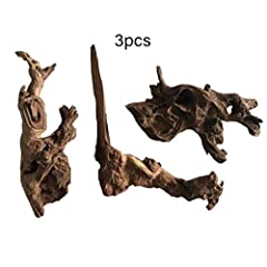 ✔HIGH QUALITY MATERIAL --- Made of high grade driftwood, solid and durable, long lasting in underwater or arid environments. ✔LIGHT WEIGHT AND STURDY BRANCH --- Reptile driftwood is light weight and sturdy branches are perfect for decorating and clim...
