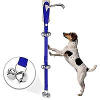 セキュリティ、アラーム、ドアベル ペット犬の訓練の鐘ナイロンロープの牽引ロープのドアベルの鎖の犬7本の鐘が付いている反失われた鐘 (色 : Blue)