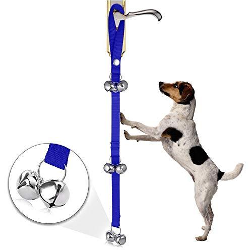 Haustier Das Haustier liefert das Bad Türklingel läutet Hundetraining for Hundetraining und geben Sie den casa.cachorros Hund mit Hund Töpfchentraining Glocke und Anweisungen Führungs Welpen (schwarz)