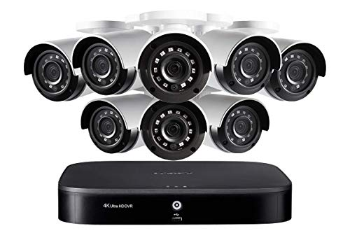 Lorex 4K Ultra HD 8-Channel Security System with Eight 4K (8MP) Cameras Featuring Smart Motion Detection and Color Night Vision