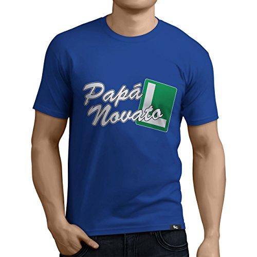 Tuning Camisetas - Camiseta Divertida para Hombre - Modelo papanovato, Color Azul- Talla M (0262-Azul-papa-novato-M)