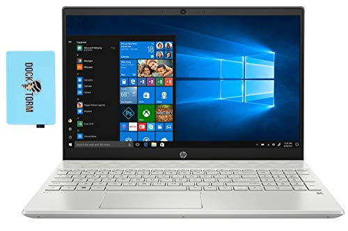 HP Pavilion - 15t 15-cs3019nr-nt Home and Business Laptop (Intel i7-1065G7 4-Core, 16GB RAM, 512GB PCIe SSD, Intel Iris Plus, 15.6' HD (1366x768), WiFi, Bluetooth, Webcam, Win 10 Pro) with Hub