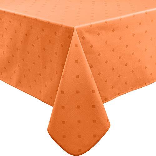 Erwin Müller abwaschbare Tischdecke, Tischwäsche Neuss im Rautendesign, Terra Größe 110x140 cm - acrylversiegeltes Gewebe für leichtes Wischen (weitere Farben, Größen)