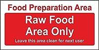 185新しいブリキのサインアルミブリキの警告サイン通知サイン食品準備ローフードエリアのみサイン屋外と屋内のサイン壁の装飾12x8インチ