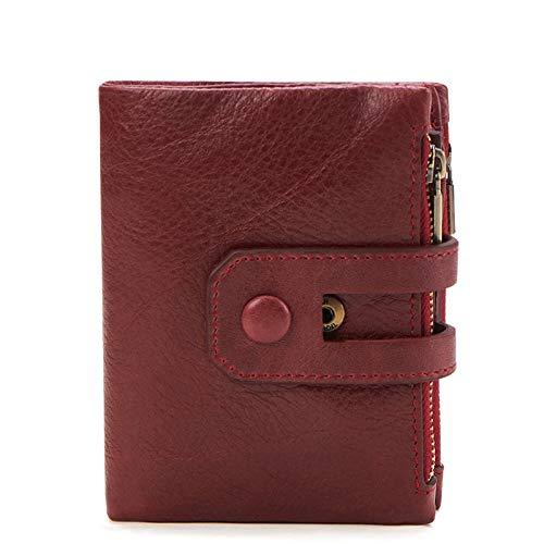 HANGYIKJ Herren Geldbörse Lässige Mode Doppel Reißverschluss Multi Kartenhalter Retro Clutch Geldbörse