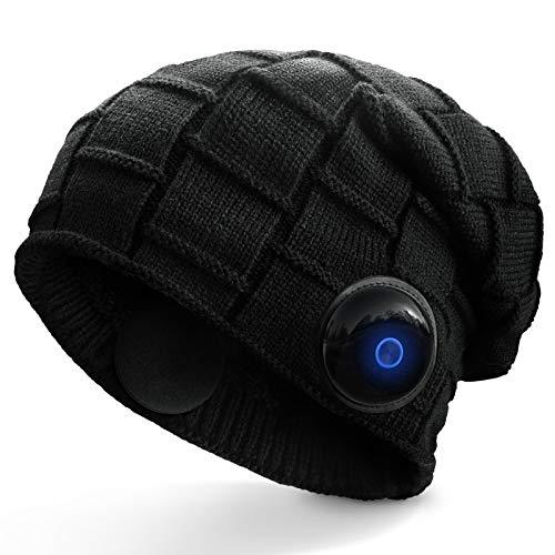 OCOOPA gorrito Bluetooth Hombre, Sonido estéreo cristalino con Bluetooth 5.1 inalámbrico, para Usar Durante Todo el día, IPX5 Impermeable, diseño Desmontable, Regalo para Hombres y Mujeres