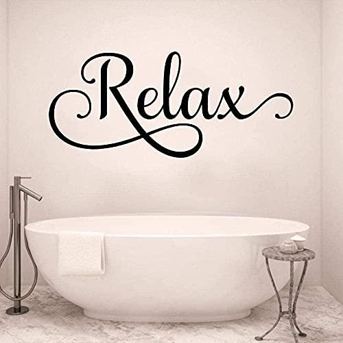 Etiqueta de la pared PVC extraíble calcomanía de pared relajante curvo impermeable decoración de baño 67X34cm