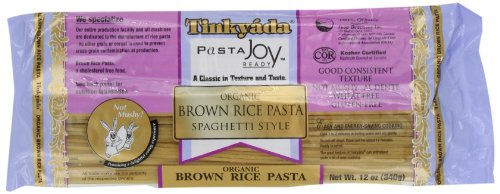 Tinkyada Brown Rice Pasta, Spaghetti, Organic, 12-Ounce (Pack of 6)
