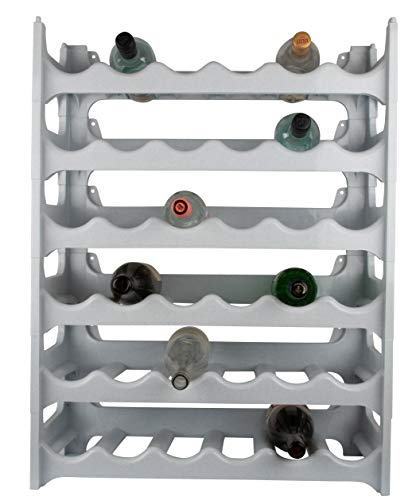 ARTECSIS Cantinetta Portabottiglie in Plastica Modulare 36 Bottiglie Bianco