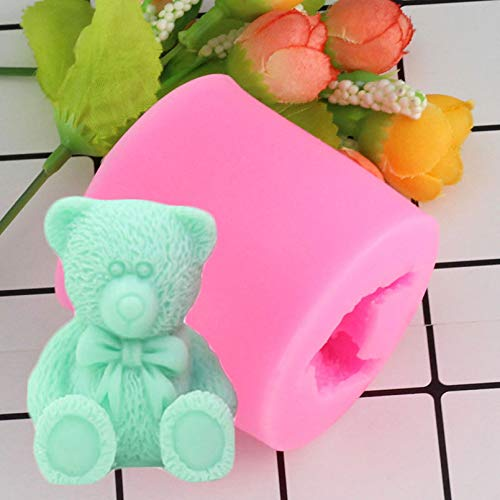 ZZYOU Animal Teddy Bear Shape Silicone Fudge 3D Cake Mold Cupcake Jelly Candy Chocolate Decoration Baking Tool Mold