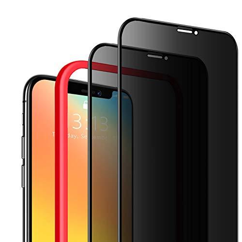 """SAEYON [2 Pezzi] Privacy Pellicola Protettiva in Vetro Temperato Anti Spy per Apple iPhone 11/ iPhone XR, 3D Copertura Completa Anti-Spia Protezione Schermo per iPhone 11/ iPhone XR di 6,1"""", Nero"""