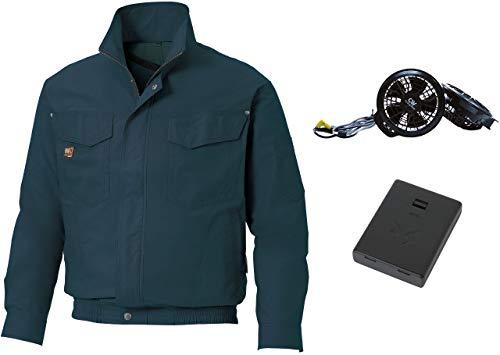 空調風神服 ブルゾン 綿100% KU91400 [フラットF (RD9920R)+電池ボックス(RD9740)] (KU91400) チャコール LL