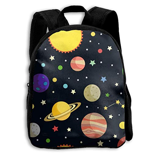 jenny-shop Space Planets Stars Comets School Backpacks for Kids 13 'Preschool Backpack with Adjustable Bandoulières