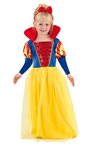 Fiori Paolo-Biancaneve costume bambina (Taglia 3-4 anni), Multicolore, 61339.3-4