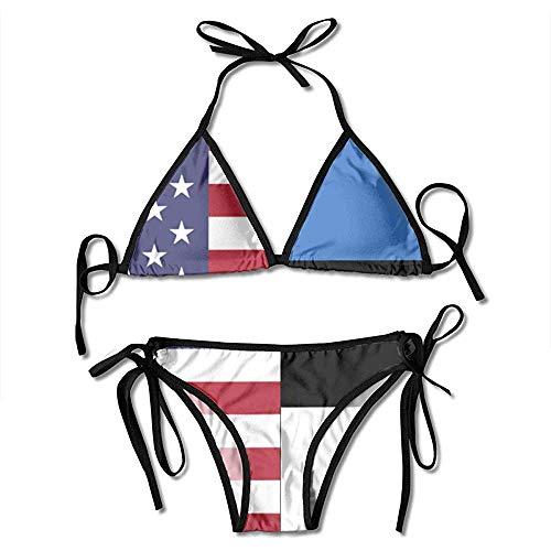 AmyNovelty Badeanzug,Zweiteilige Bikini,Bikini Set,Damen Badeanzug,Schwimmanzug,Badeanzüge,Bademode,Estland Fahnendruck Bikini Set Mode Sexy Frauen Einstellbare Badeanzüge