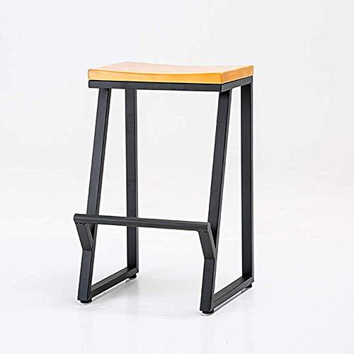 Taburete de barra de desayuno, Silla de barra de madera maciza simple moderna, taburete de cafetería con mostrador creativo moderno,Small