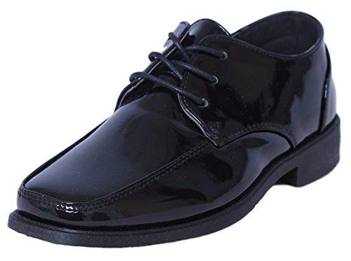 Josmo Boys Lace-Up Dress Shoes, Black Patent Size 12