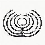 Carpeta de anillas Alta calidad 2/3/5 / 10Pcs Negro metal Carpeta de anillas, 15-76mm bricolaje libro de hojas sueltas de los aros, la apertura de la Oficina de Unión álbumes de fotos Supplie
