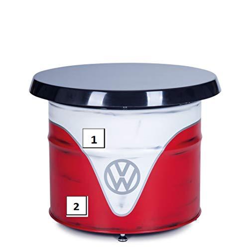 BRISA VW Collection Volkswagen T1 Bulli Bus Ölfass-Tisch in Vintage-Optik - Lackierung Personalisierbar