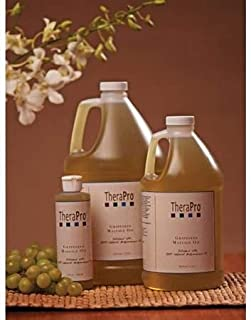 Grapeseed Massage Oil by TheraPro - 100% Pure & All Natural Massage Oil - Expeller Pressed Natural Grapeseed Oil - Rich in...