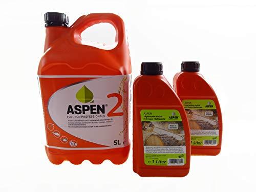 Aspen 5L 2-Takt Alkylatbenzin mit 2L Kettenöl