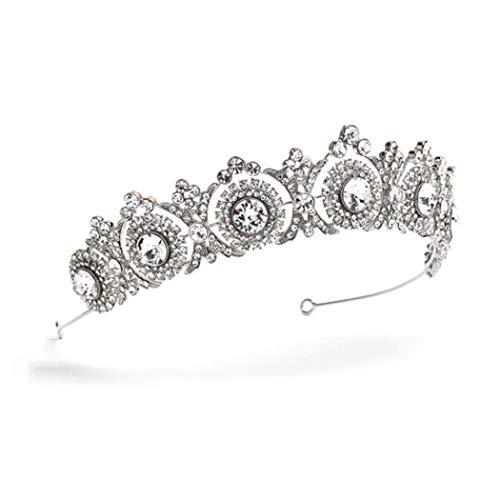 Zoestar Tiara de corona de boda de cristal vintage novia princesa real...