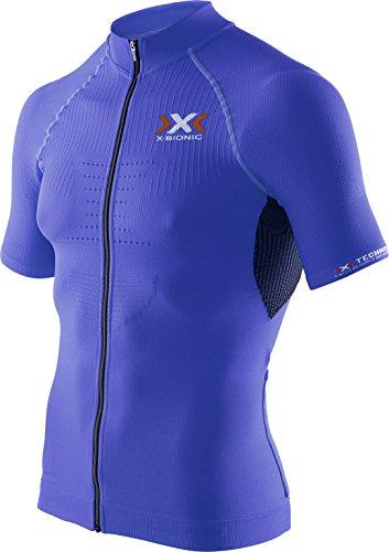 X-Bionic Maillot de Cyclisme zippé sur Toute la Longueur pour Homme, Homme, Biking Man The Trick Ow Shirt SH_SL.Full Zip, Bleu Royal/Noir, S
