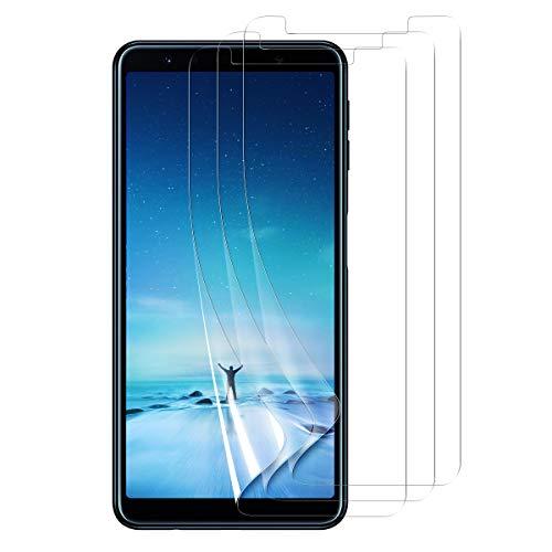 Bigmeda Schutzfolie für Samsung Galaxy A7 2018, 3 Stück HD Klar Ultra Dünn Folie Weich Bildschirmschutzfolie (Nicht Glas) Blasenfrei Anti-Fingerabdruck Screen Protector für Samsung A7 2018