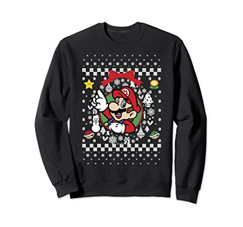 Super Mario Classic Ugly Christmas Mario Sweatshirt