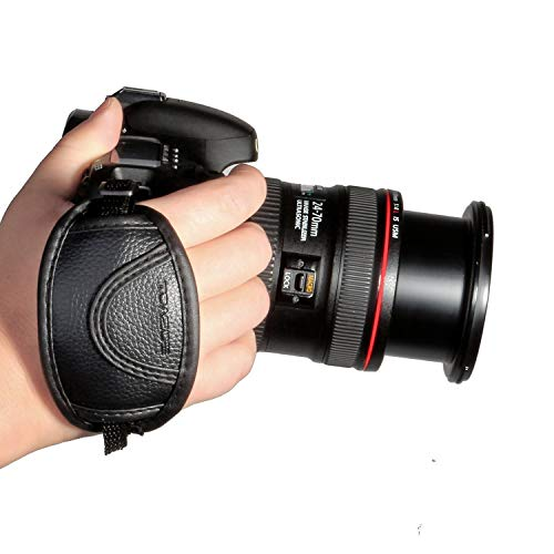 TOAZOE Leather Hand Grip Strap Compatible with Canon , Fujifilm , Nikon , Sony and more DSLR , Mirrorless Cameras
