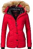 Navahoo Damen Winter Jacke Winterparka Laura Rot Gr. XS