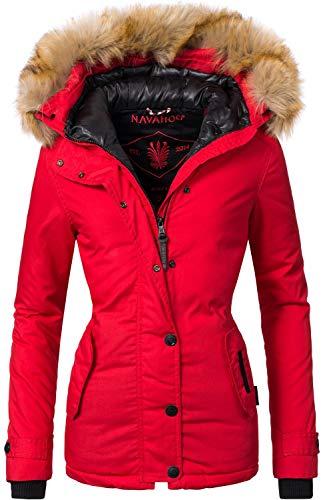 Navahoo Damen Winter Jacke Winterparka Laura Rot Gr. M