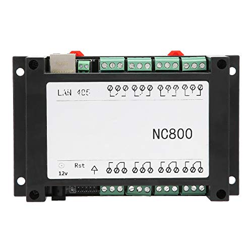 Restablecimiento Retorno de estado Blanco/negro Controlador de relé RJ45 Ethernet estable de 8 canales Tamaño mini AC 250V 10A TCP/IP Tablero de control remoto con estuche(white)