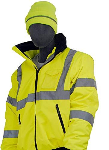 Majestic 75-1301 High Visibility Waterproof Winter Bomber Jacket, M-Medium Neon Green