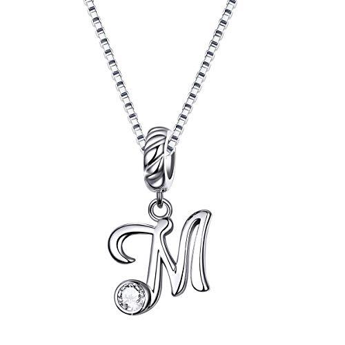 SIMPLGIRL Collana Iniziale in Argento Sterling 925 con Lettere a m. L Collana con Nome Script