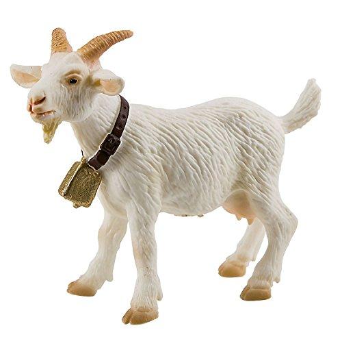 Bullyland 62318 - Spielfigur, Ziege, ca. 9 cm groß, liebevoll handbemalte Figur, PVC-frei, tolles Geschenk für Jungen und Mädchen zum fantasievollen Spielen