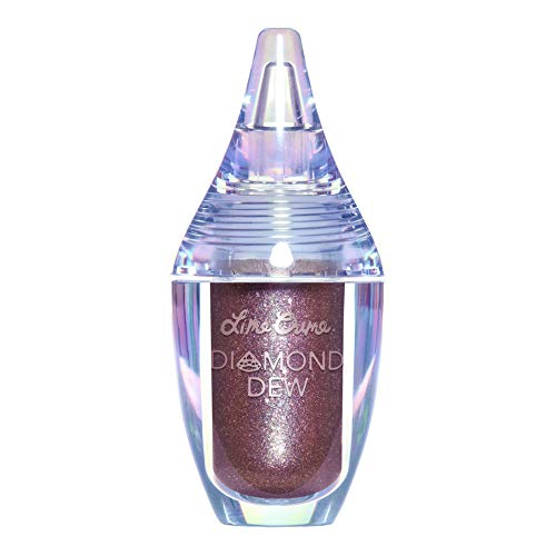 Lime Crime Diamond Dew Glitter Eyeshadow, Vision - Iridescent Mauve Lid Topper - Reflective Sparkle Shadow for Lids, Cheeks & Body - Won't Smudge or Crease - Vegan - 0.14 fl oz