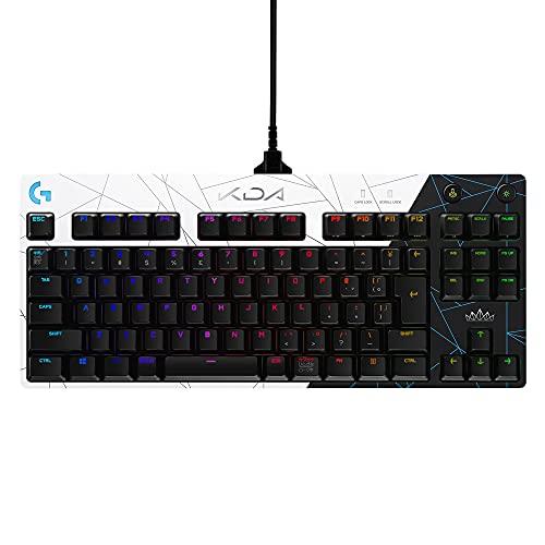 Logicool G ロジクール G PRO LoL K/DA テンキーレス ゲーミングキーボード 有線 GX タクタイル メカニカル スイッチ 日本語配列 LIGHTSYNC RGB ライト League of Legends 公式 ゲームギア 国内正規品 2年間無償保証 ホワイト