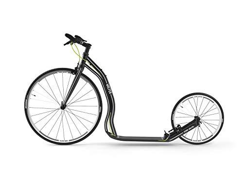 Yedoo Wolfer Monopattino – fino a 120 kg – Monopattino con pneumatici 28/20 – Monopattino per adulti veloce in lega di alluminio, peso 7 kg (nero)