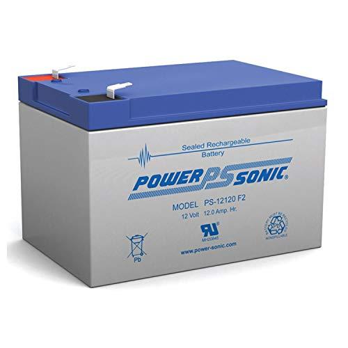 Power Sonic 12V 12Ah F2 Battery REPL. 6DZM-10, 6-DZM-10 Each