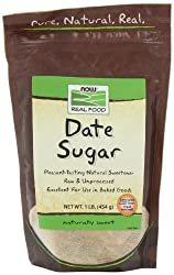 NOW Foods Date Sugar, 16 Ounce Bags (Pack of 4) : Sugar Substitute Products