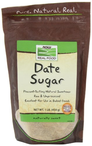 NOW Foods Date Sugar,  16-Ounce (Pack of 4)
