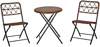 Outsunny 3-Piece PE Rattan Cafe Bisto Patio Set