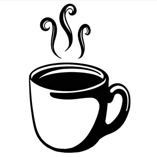 Lovemq Wandaufkleber 40 * 57 Cm Kaffeetasse Auto Aufkleber Vinyl Auto Zubehör Aufkleber Schwarz Wohnkultur Wandaufkleber Muursticker Adesivo De Parede