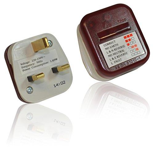 CDL Micro Stromversorgung 13 A 250 V Steckdosenprüfer UK Elektrosatz Checker Sicherheit Stecker