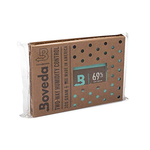 Boveda für Zigarren/Tabak | 2-Wege-Feuchtigkeitsregulierung mit 69% relativer Feuchtigkeit | Größe 320 für bis zu 100 Zigarren | patentierte Technologie für Zigarren-Humidore | 1 Stück