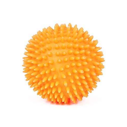 Hondenspike-speelgoed voor honden, duurzaam, kauwbal, bouncy, 7CM, Oranje