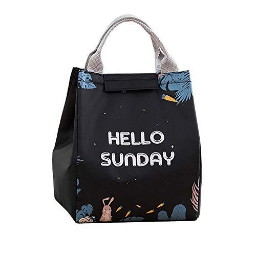 Tomedeks - bolsa aislante Magic Forest, viaje de trabajo, picnic, escuela, almuerzo, duradera e impermeable, caja de almacenamiento para el almuerzo, bolsa de almuerzo, unisex (conejo de ojos grandes)