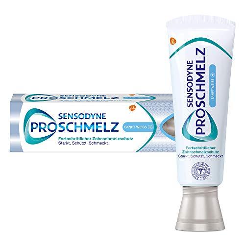 SENSODYNE ProSchmelz Sanft Weiss Plus Zahnpasta - 1x75ml, Fortschrittlicher Zahnschmelzschutz - mit Whitening Effekt - Stärkt, schützt, schmeckt