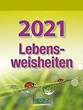 Lebensweisheiten - Kalender 2021 - Korsch-Verlag - Tagesabreisskalender mit Zitaten - 11,8 cm x 15,8 cm